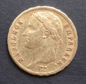 Gold coin of Napoleon - 20 francs